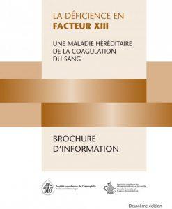 Calendrier Facteur Combien Donner.Deficit En Facteur Xiii Hemophilia